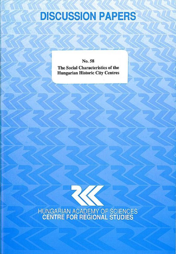 cover_The Social Characteristics of Hungarian Historic City Centres